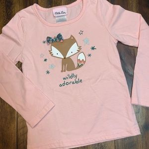 Little Lass wildly adorable rose pink long sleeve